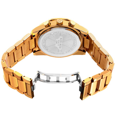 Akribos XXIV Mens Gold Tone Bracelet Watch-A-940yg
