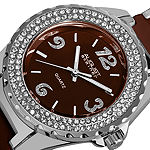 August Steiner Womens Two Tone Bracelet Watch-As-8036br