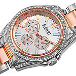 August Steiner Womens Two Tone Bracelet Watch-As-8075ttr