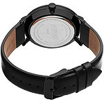August Steiner Mens Black Strap Watch-As-8090blk