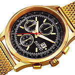 August Steiner Mens Gold Tone Bracelet Watch-As-8194ygb