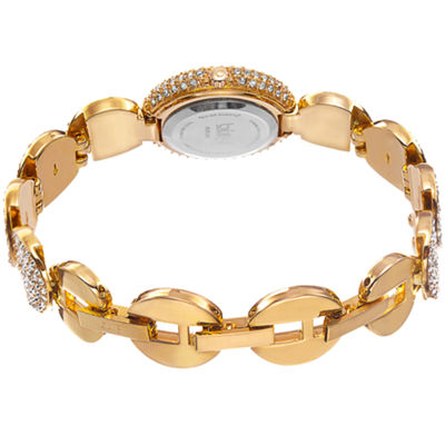 Burgi Womens Gold Tone Bracelet Watch-B-109yg
