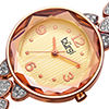 Burgi Not Applicable Womens Rose Goldtone Bracelet Watch-B-124rg