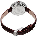 Burgi Womens Brown Strap Watch-B-195bur