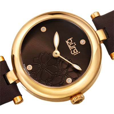 Burgi Womens Brown Strap Watch-B-197br