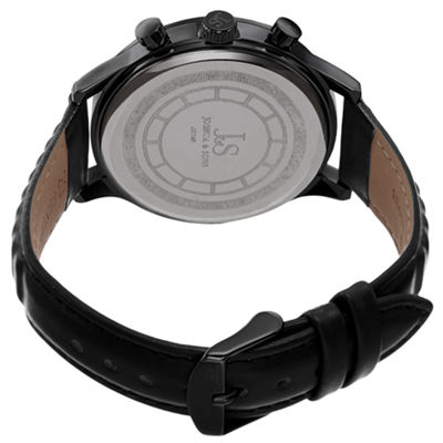 Joshua & Sons Mens Black Strap Watch-J-146bk