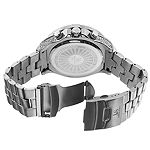Joshua & Sons Mens Silver Tone Bracelet Watch-J-121ss