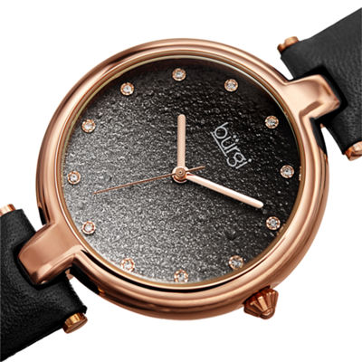 Burgi Womens Black Strap Watch-B-225bk