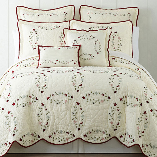 Home Expressions Hope Chest Embroidered Quilt