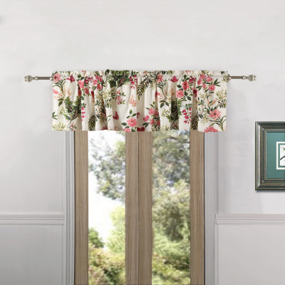 Greenland Home Fashions Butterflies Rod-Pocket Tailored Valance