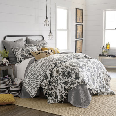 JCPenney Home Bailey 4-pc. Floral Reversible Comforter Set