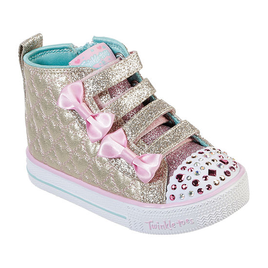 Skechers Shuffle Lite-Quilted Beauties Toddler Girls Sneakers