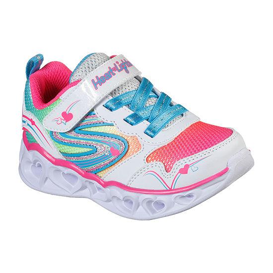 Skechers Heart Lights-Love Spark Toddler Girls Sneakers