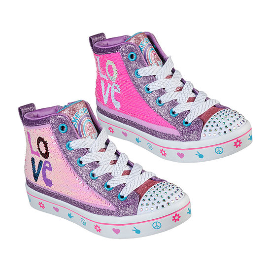 Skechers Twinkle Toes Twi-Lites 2.0 Lilac Love Girls Sneakers