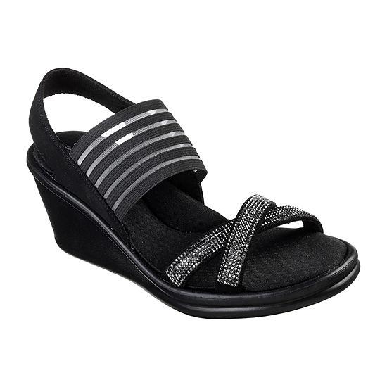 Skechers Womens Rumblers - Modern Maze Wedge Sandals Wide Width