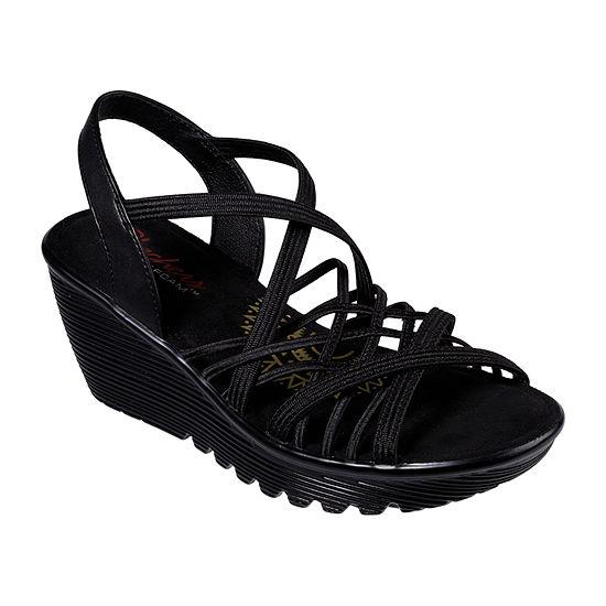Skechers Womens Parallel - Crossed Wires Wedge Sandals