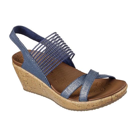 Skechers Womens Beverlee - High Tea Wedge Sandals