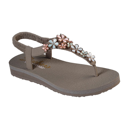 Skechers Womens Meditation - Glass Daisy Flip-Flops