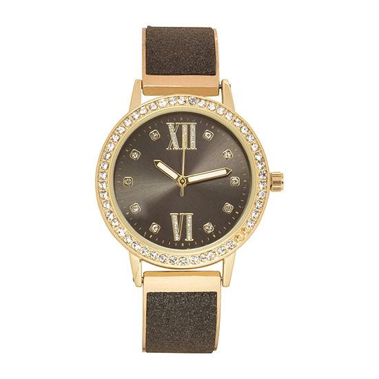 Geneva Womens Two Tone Bracelet Watch-Wac8716jc