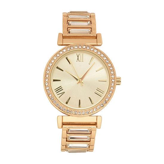 Geneva Womens Gold Tone Bracelet Watch-Wac8719jc