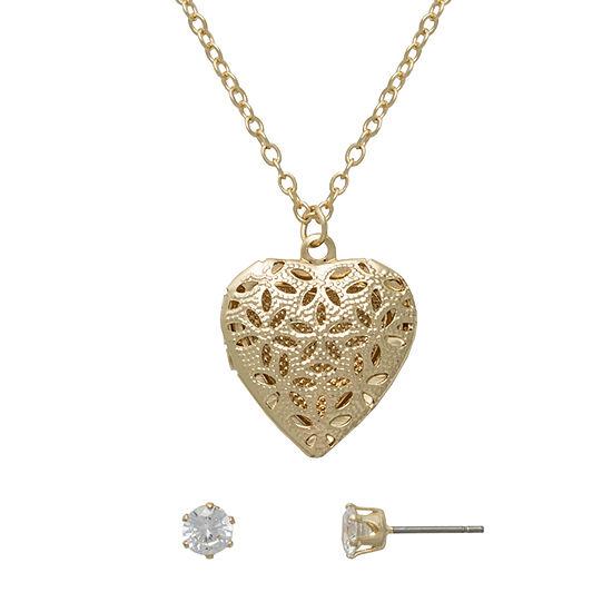 Mixit 2-pc. Heart Jewelry Set