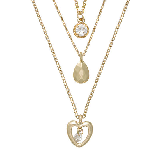 Mixit Hypoallergenic 3-pc. 18 Inch Cable Heart Necklace Set