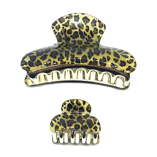 Mixit Leopard Print 2-pc. Hair Clip