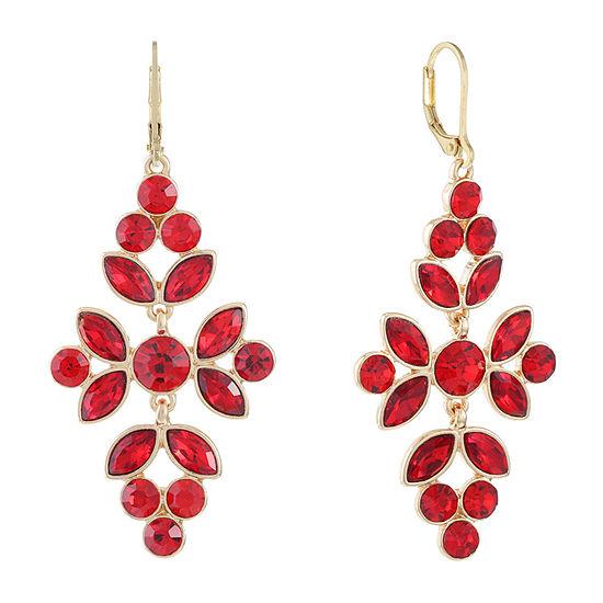 Monet Jewelry 1 Pair Red Chandelier Earrings