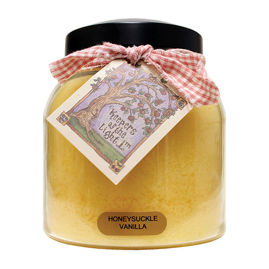 A Cheerful Giver 34oz Papa Honeysuckle Vanilla Jar Candle
