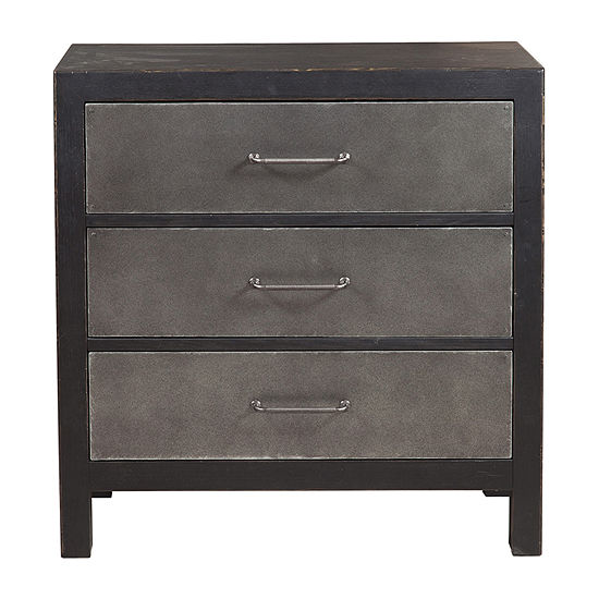 Industrial Style 3-Drawer Accent Chest