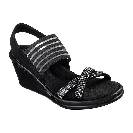 Skechers Womens Rumblers - Modern Maze Wedge Sandals