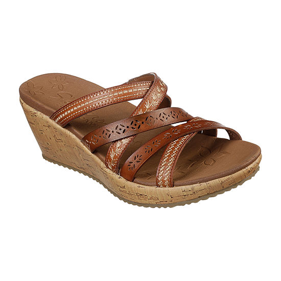 Skechers Womens Beverlee - Tiger Posse Wedge Sandals