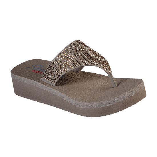 Skechers Womens Vinyasa - Stone Candy Flip-Flops
