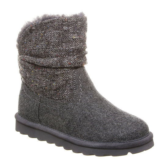 Bearpaw Womens Virginia Winter Boots Flat Heel