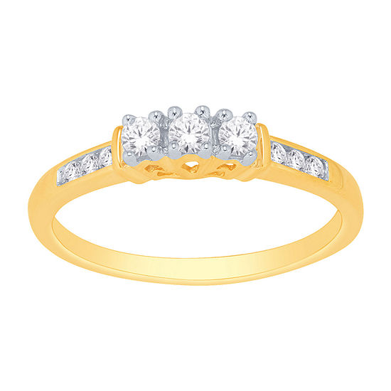 Love Lives Forever™ 1/4 CT. T.W. Genuine Diamond 3-Stone Ring