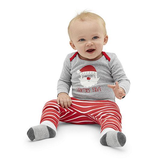 Okie Dokie Christmas-Baby Unisex 2-pc. Bodysuit Set