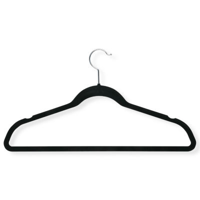 Honey-Can-Do® 20-Pack Velvet Touch Suit Hangers - Black