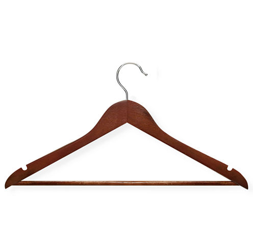 Honey-Can-Do® 24-Pack Nonslip Bar Wood Suit Hangers