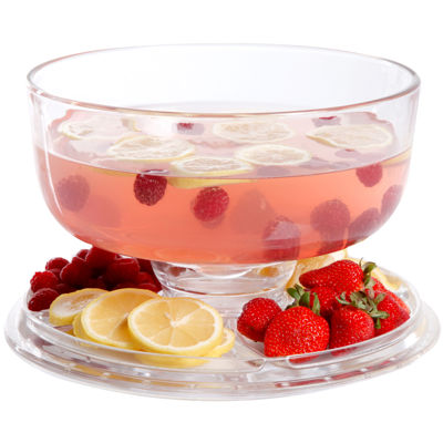Gibson® 6-in-1 Glass Cake Platter with Dome Cover
