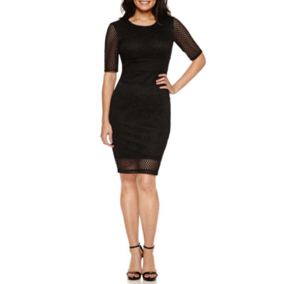 Bisou Bisou Elbow Sleeve Sheath Dress
