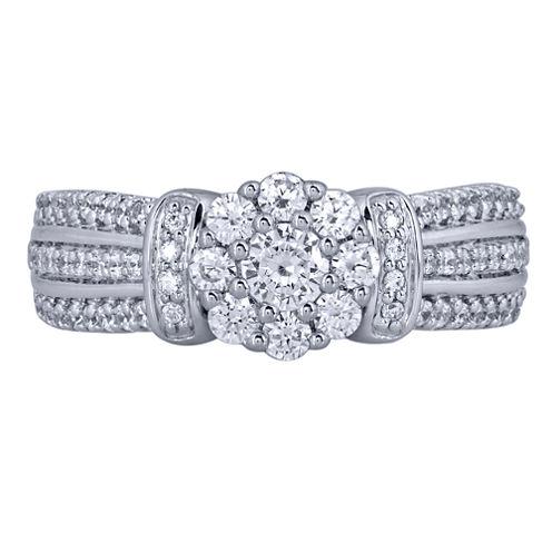 1 CT. T.W. Round White Diamond 10K Gold Engagement Ring