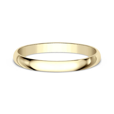 Womens 2mm 18K Yellow Gold Wedding Band