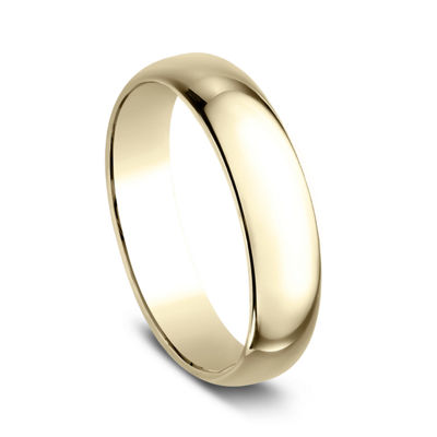 Mens 5mm 18K Yellow Gold Wedding Band