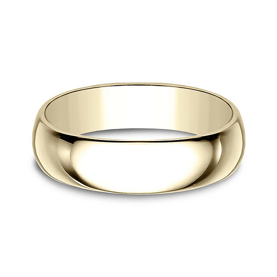 Mens 6 Mm 18K Gold Wedding Band