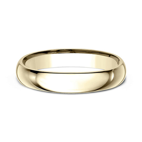 Womens 18K Yellow Gold 4MM Comfort-Fit Wedding Band