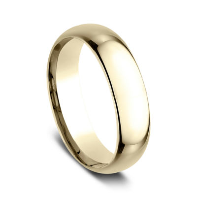 Mens 18K Yellow Gold 6MM Comfort-Fit Wedding Band