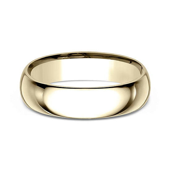 8ac67f56df3f7 Mens 18K Yellow Gold 6MM Comfort-Fit Wedding Band
