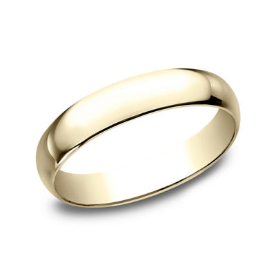 Womens 4mm 14K Yellow Gold Wedding Band