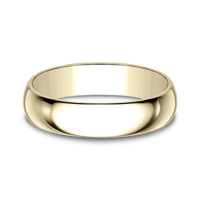 Mens 5 Mm 14K Gold Wedding Band