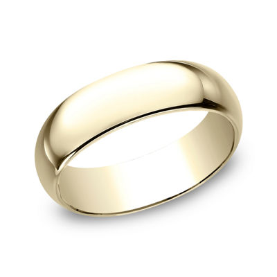 Mens 7 Mm 14K Gold Wedding Band